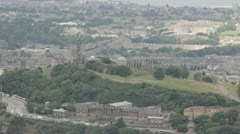 Edinburgh cityscape (Calton Hill) Stock Footage