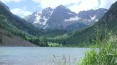 Maroon Bells, Aspen Colorado Stock Footage