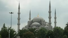 The imposing Blue Mosque in Istanbul Stock Footage