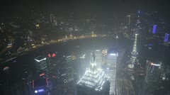 Aerial time lapse of Shanghai Stock Footage