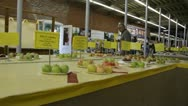 Stock Video Footage of Stock Footage - Iowa State Fair - HD1080p - Award Winning Produce - Apples