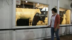 Stock Footage - Iowa State Fair - HD1080p - Butter Cow Stock Footage
