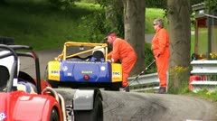 Starting line of the Loton Park Hill Climb Stock Footage
