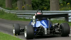 An OMS CF at the starting line of the Loton Park Hill Climb Stock Footage