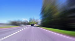 Fast Driving on the Highway, blurred Stock Footage