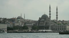 The Mosques towering above Istanbul and overlooking the Bosphorus Stock Footage