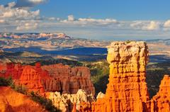 Hoodoo rock formation in bryce canyon. Stock Photos