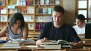 Students in the library Stock Footage