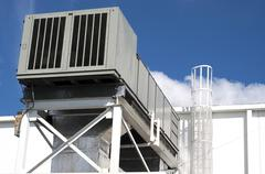 Air Handler Unit Roof top.jpg Stock Photos