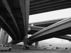 Dallas Texas overpasses and roads - stock photo