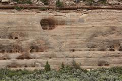 Anasazi Native Indian cliff dwelling stone step stairs 1602.jpg - stock photo