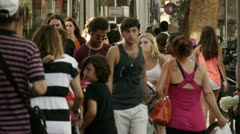 Tel Aviv street people 2 Stock Footage