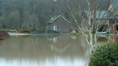 Flooded house Stock Footage