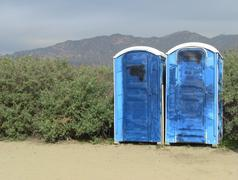 Portable Toilets - stock photo
