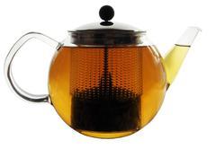 Clear Glass Tea Pot - stock photo