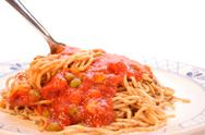 Stock Photo of home made spaghetti