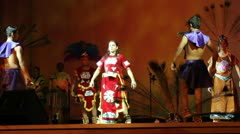Prehispanic dance Stock Footage
