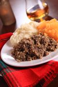 Scottish Haggis Robert Burns Night Dinner Plate  Stock Photos