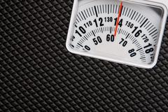 Scale showing weight Stock Photos
