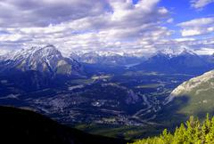 Banff Sulpher Mountain 's View, Alberta Canada Stock Photos