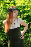 Woodland tyttö - stock photo