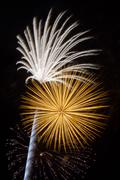 Pyrotechnic Blasts - stock photo