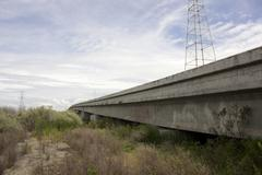 Overpass with vanishing point Stock Photos