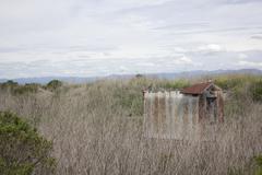 old rusty shack - stock photo
