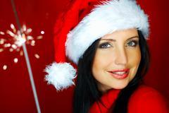santas woman 2 - stock photo