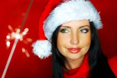 Santas woman 2 Stock Photos