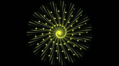 Abstract illuminating yellow star points swirling Stock Footage