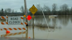 Road flood. Road Flood.  Stock Footage