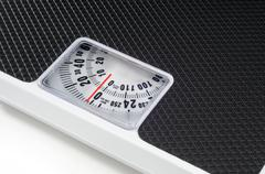 bathroom scales - stock photo