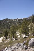 High angle of the sierra nevadas Stock Photos