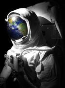 Earth Astronaut - stock illustration