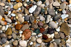 Wet Beach Stones Stock Photos