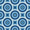 Stock Illustration of Blue Circles Seamless Texture