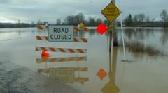 Road Flood. Flooded.  Stock Footage