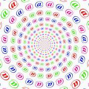 Internet address radial Stock Illustration