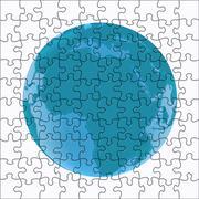 globe in puzzle - stock illustration