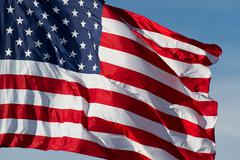 Flying US Flag Stock Photos