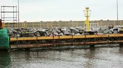 Port in Leba - Poland Stock Footage