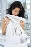 Fresh laundry Stock Photos