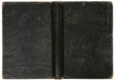 distressed old vintage black book background - stock photo