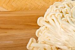 Enoki Mushrooms - stock photo