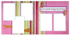 Stock Photo of handmade paper scrapbook pages to insert your images into