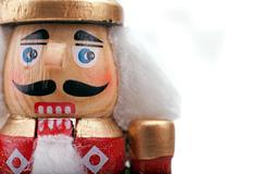 Close Up Of A Traditional Nutcracker Face Stock Photos