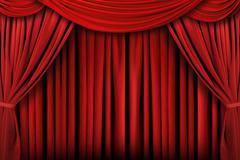 Abstract red theatre stage drape background Stock Photos