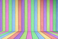 Pastel colored wood fence background element Stock Photos