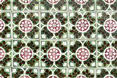 portuguese glazed tiles 039 - stock photo